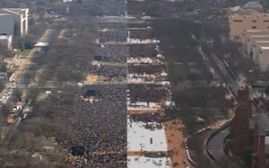 Barack Obama vs. Donald Trump: Inaugural Crowds (Video)